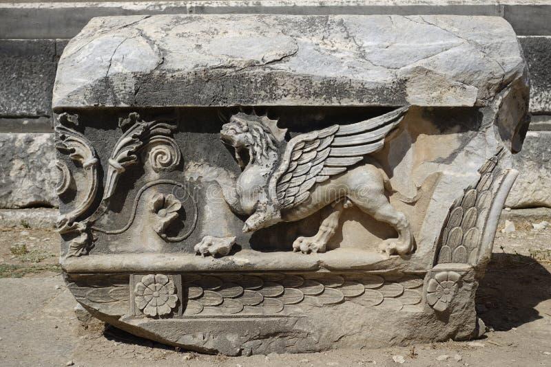 Templo de Apollon - de Didyma/de Turquía foto de archivo