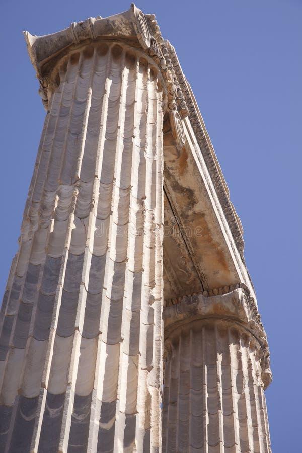Templo de Apolo en Didyma, Turquía fotos de archivo libres de regalías