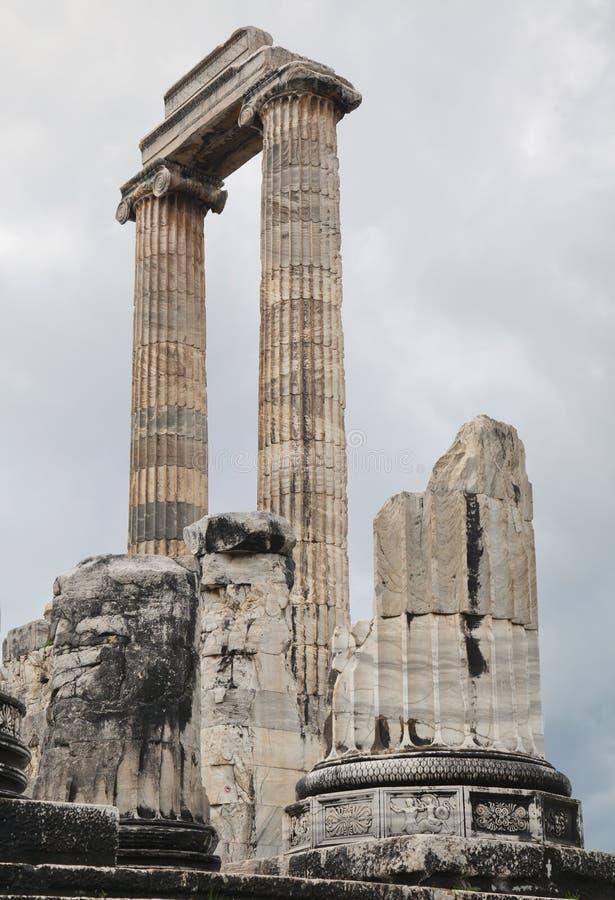 Templo de Apolo en Turquía imagen de archivo libre de regalías