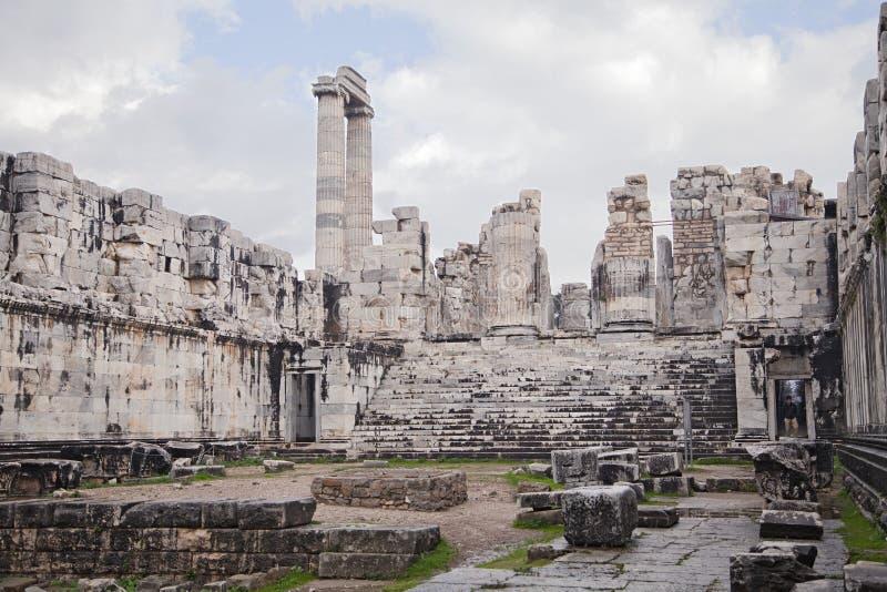 Templo de Apolo en Turquía foto de archivo libre de regalías