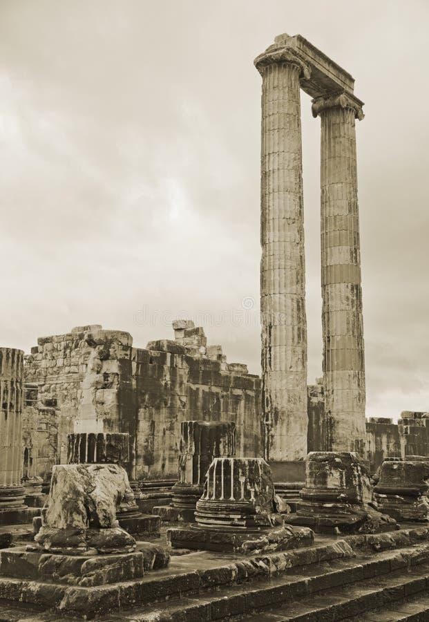 Templo de Apolo en Turquía fotografía de archivo libre de regalías