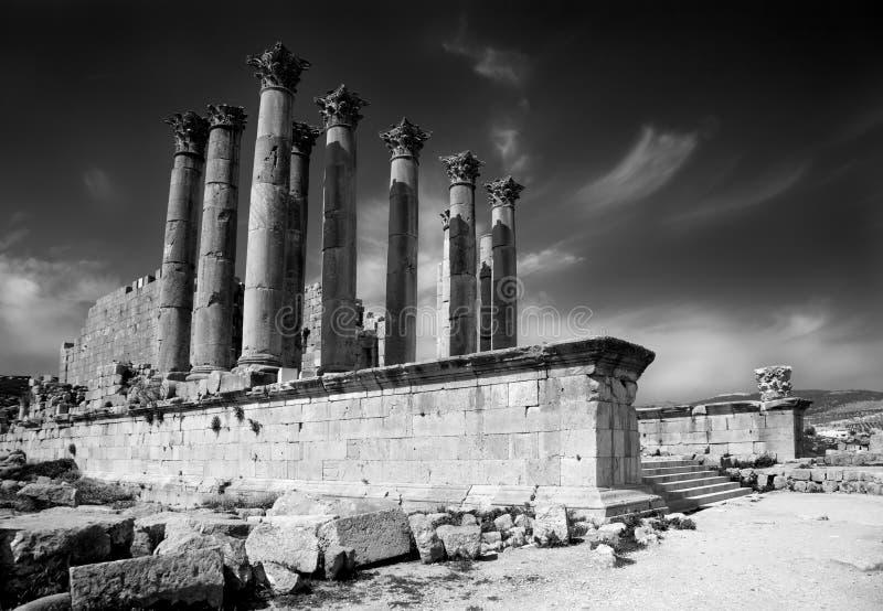 Templo de Artemis em Jerash fotos de stock