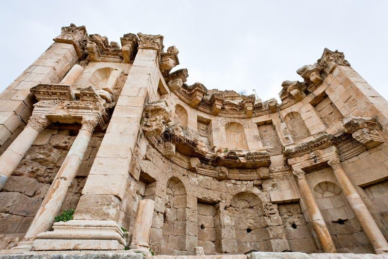 Templo de Artemis en la ciudad antigua Jerash imagen de archivo libre de regalías