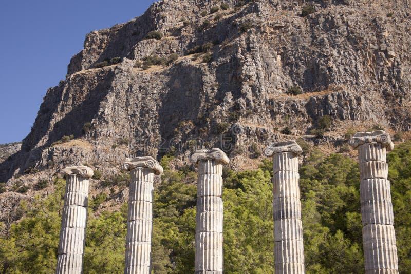 Templo de Athena em Priene, Turquia imagem de stock royalty free