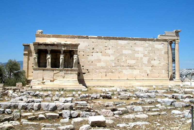 Templo de Athena Nike, acrópole de Atenas, Grécia imagem de stock royalty free