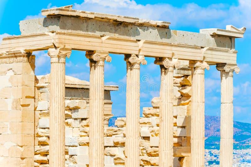 Templo de Athena Nike em Grécia fotografia de stock