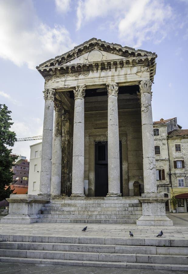 Templo de Augustus foto de stock