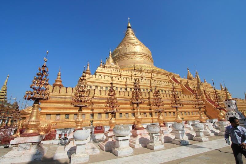 Templo de Bagan em Myanmar fotografia de stock