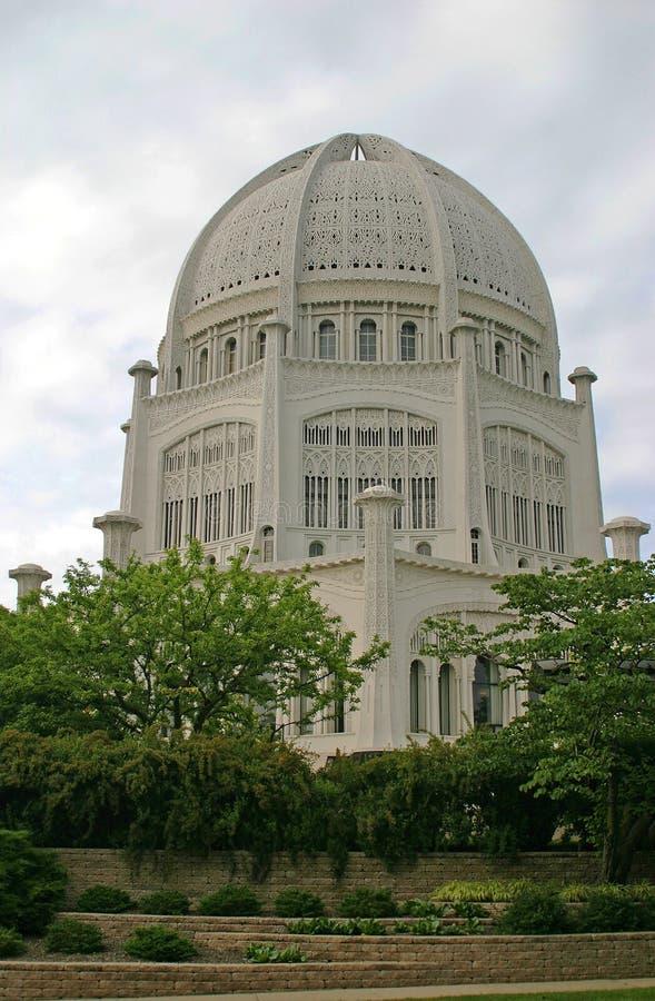 Templo de Bahai fotos de archivo libres de regalías
