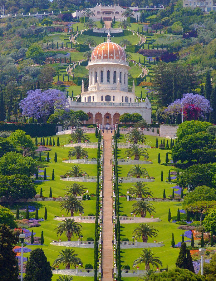 Templo de Bahai en Haifa imagenes de archivo
