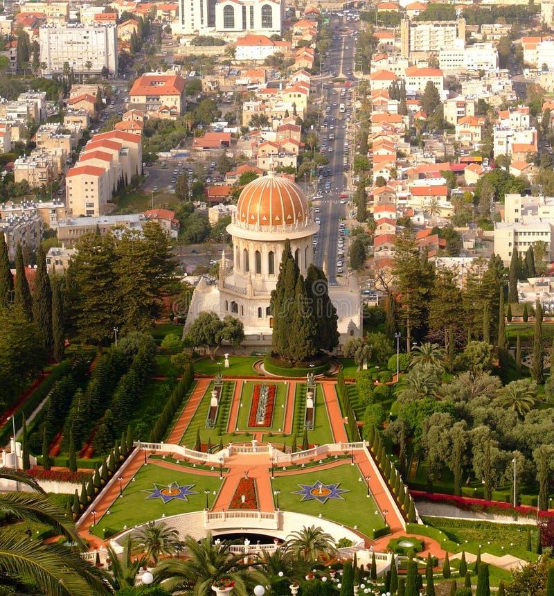 Templo de Bahai, Haifa, Israel foto de archivo libre de regalías
