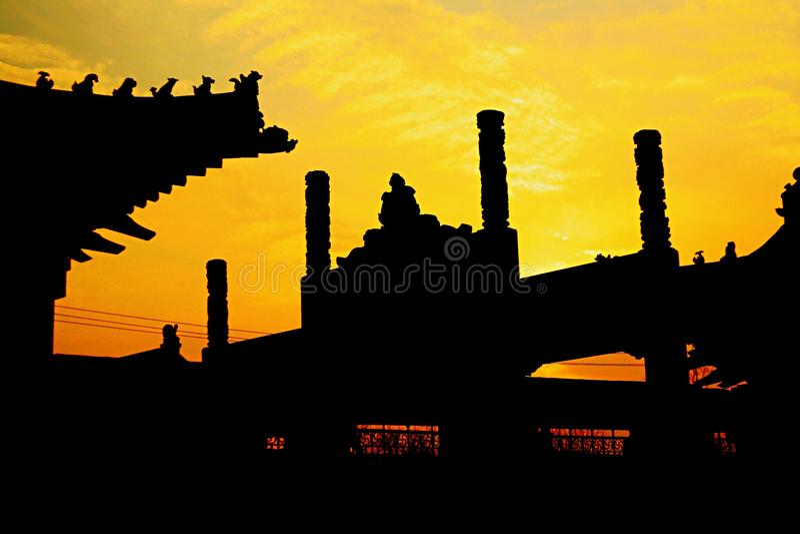 Templo de Baima em Luoyang fotografia de stock