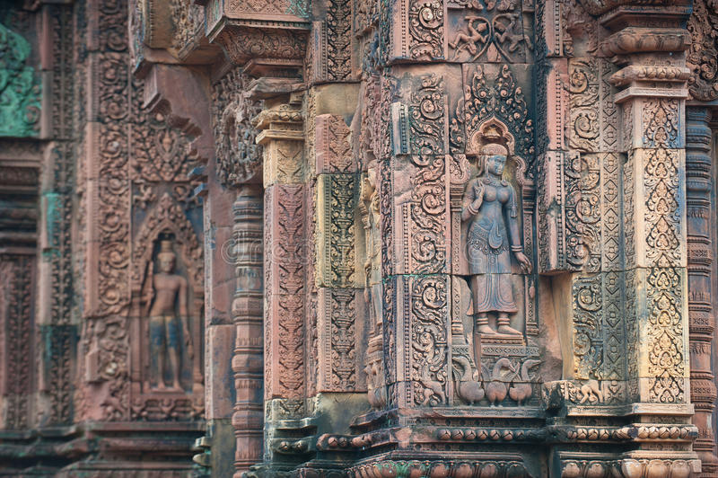 Templo de Banteay Srei, Angkor, Camboya fotos de archivo libres de regalías
