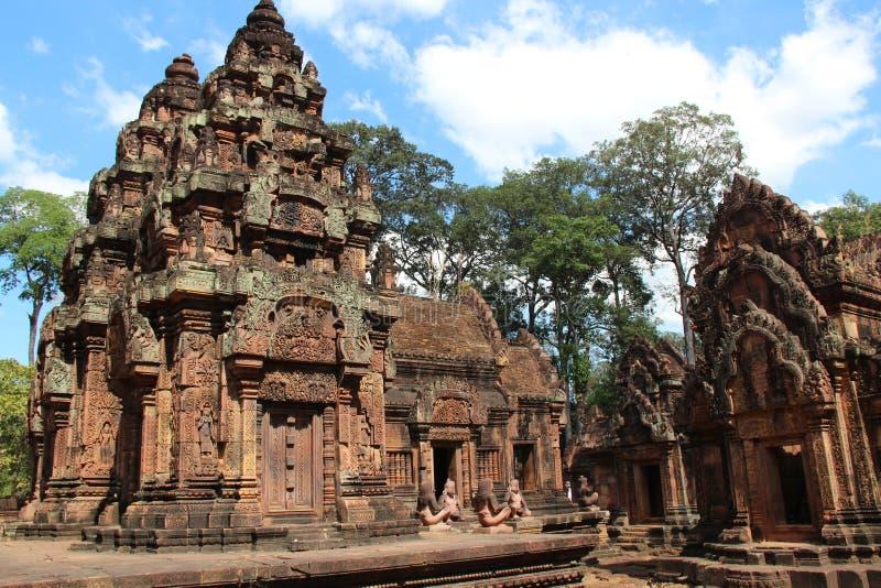 Templo de Banteay Srei camboya Provincia de Siem Reap Ciudad de Siem Reap fotografía de archivo libre de regalías