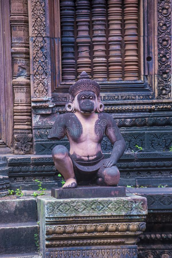 Templo de Banteay Srei em Camboja fotografia de stock