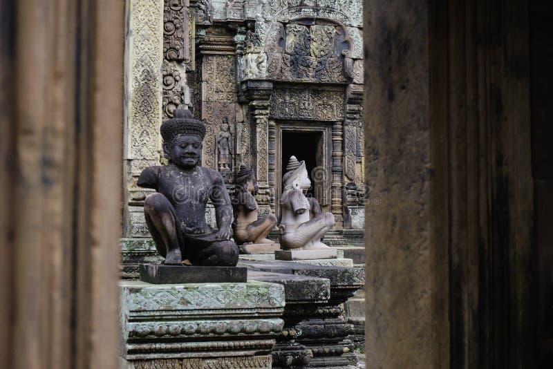 Templo de BANTEAY SREI, extensamente siendo elogiado como un ` precioso de la gema del `, o la joya del ` del arte del Khmer ` foto de archivo