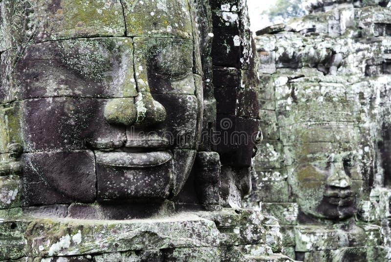 Download Templo de Bayon foto de archivo. Imagen de coseche, figuras - 1296892