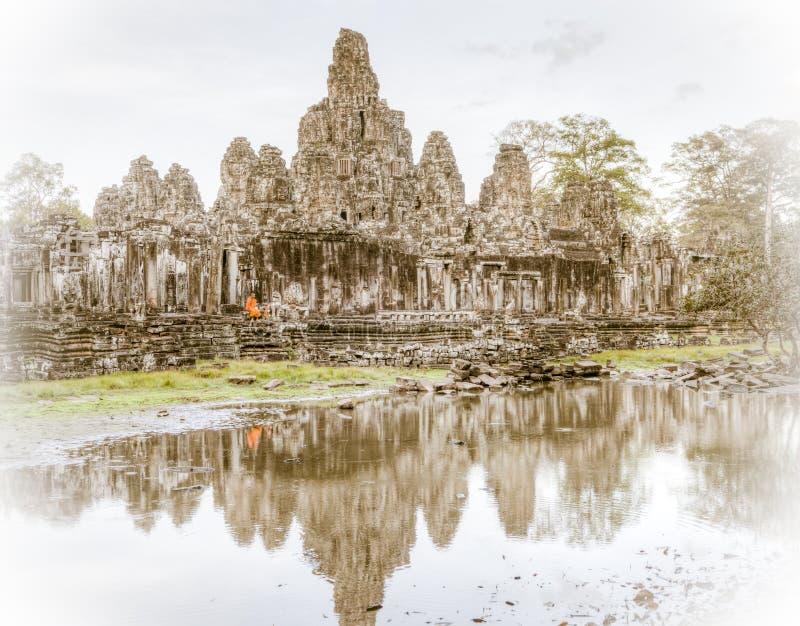 Templo de Bayon foto de stock