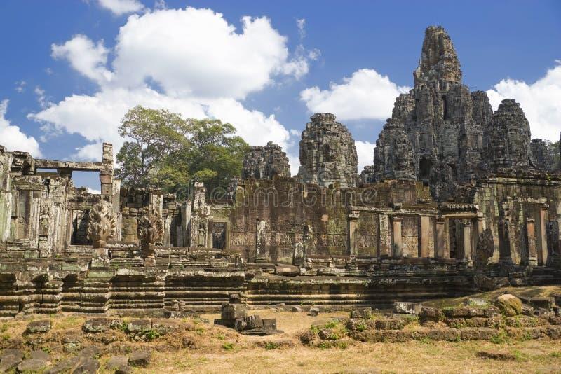 Templo de Bayon, Angkor Thom, Cambodia imagem de stock royalty free