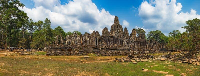 Templo de Bayon en Angkor Thom Complex, Camboya imagen de archivo