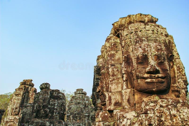 Templo de Bayon en Angkor Thom, Siem Reap imagenes de archivo