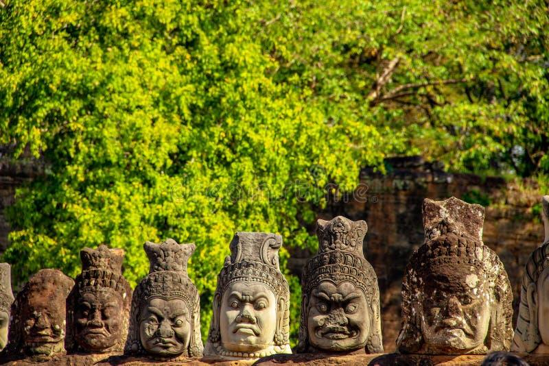 Templo de Bayon en Angkor Thom, Siem Reap imágenes de archivo libres de regalías