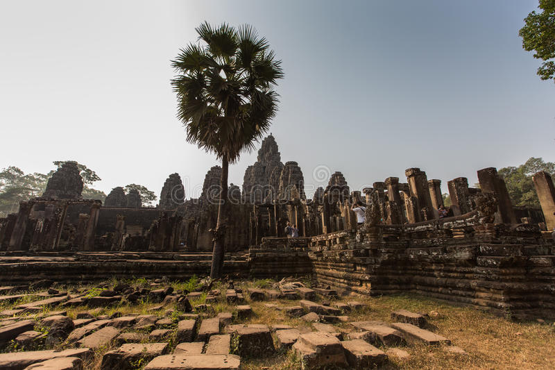 Templo de Bayon en Angkor Wat Historical Complex imagenes de archivo