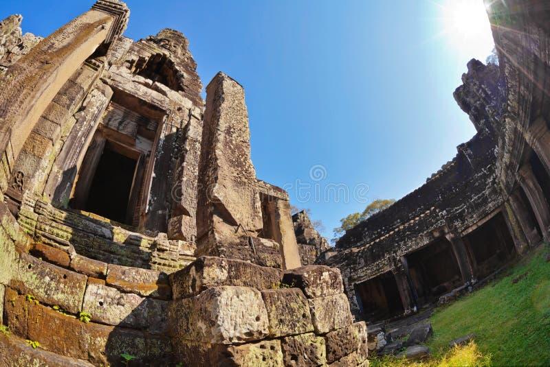 Templo de Bayon en el complejo de Angkor Wat fotos de archivo