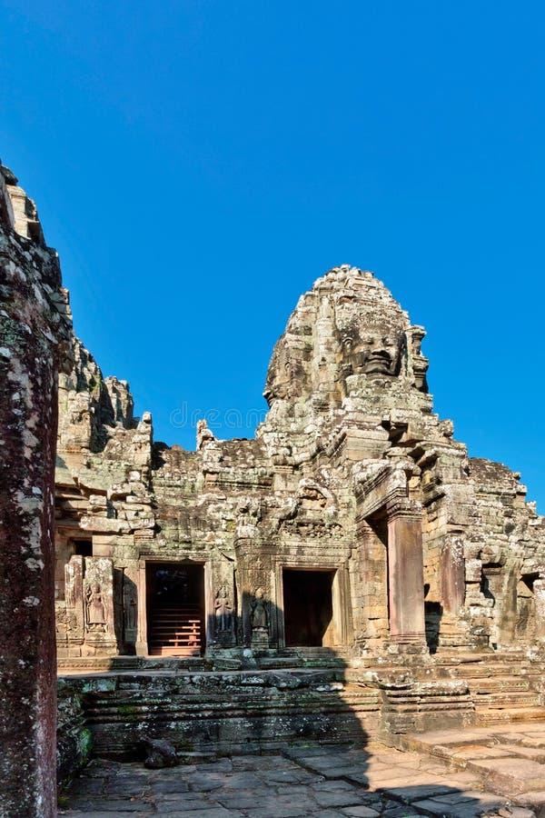 Templo de Bayon en el complejo de Angkor Wat fotografía de archivo libre de regalías