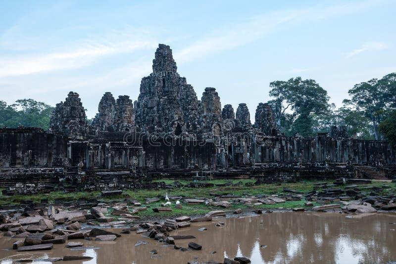 Templo de Bayon no complexo de Angkor Wat, Siem Reap, Camboja fotos de stock