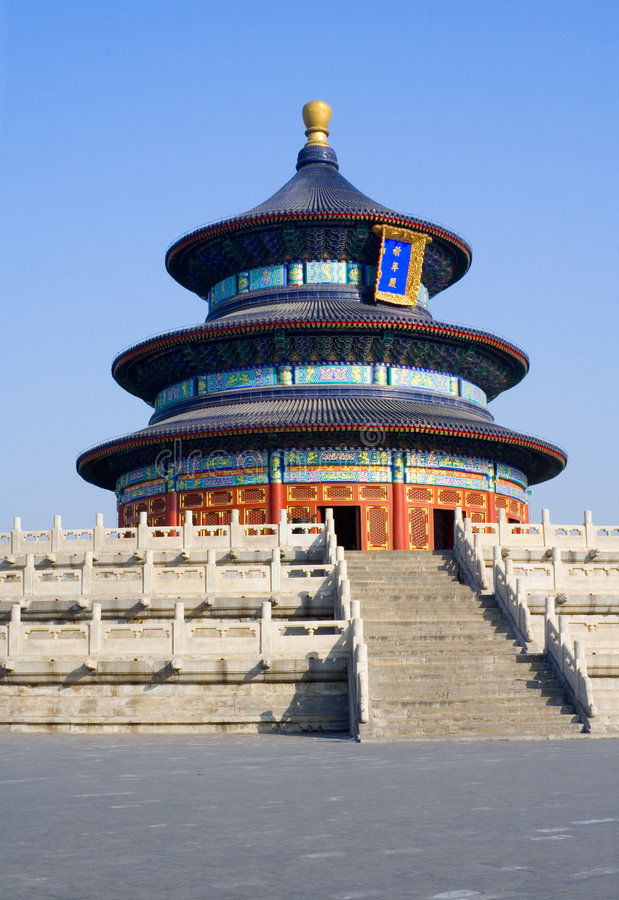 Templo de Beijing de céu foto de stock royalty free