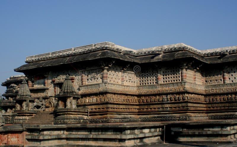 Templo de Belur imagem de stock
