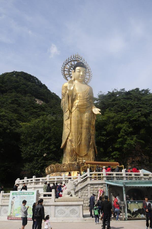 Templo de Beojupsa, parque nacional de Songnisan foto de stock