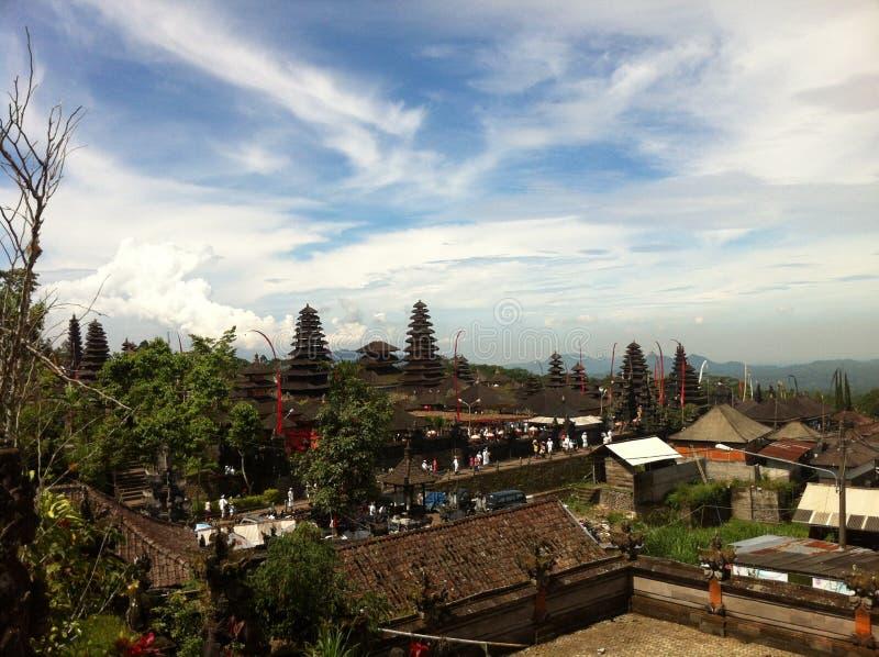 Templo de Besakih fotos de stock