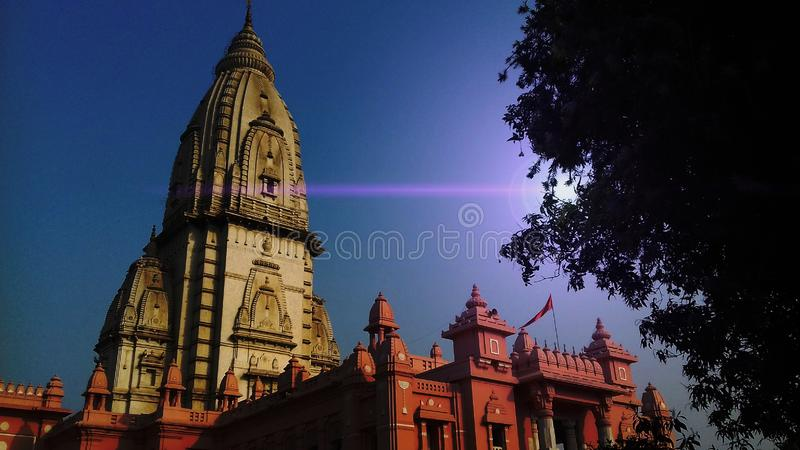 Templo de Birla - Varanasi foto de archivo