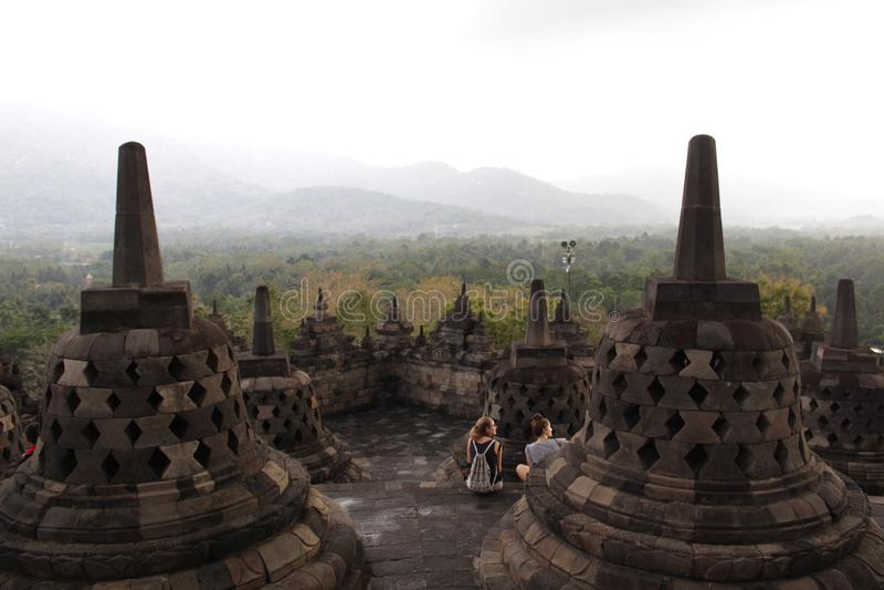 Templo de Borobudur fotos de archivo libres de regalías