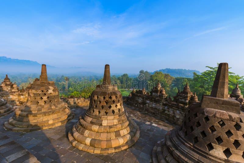 Templo de Borobudur Buddist - ilha Java Indonesia fotografia de stock