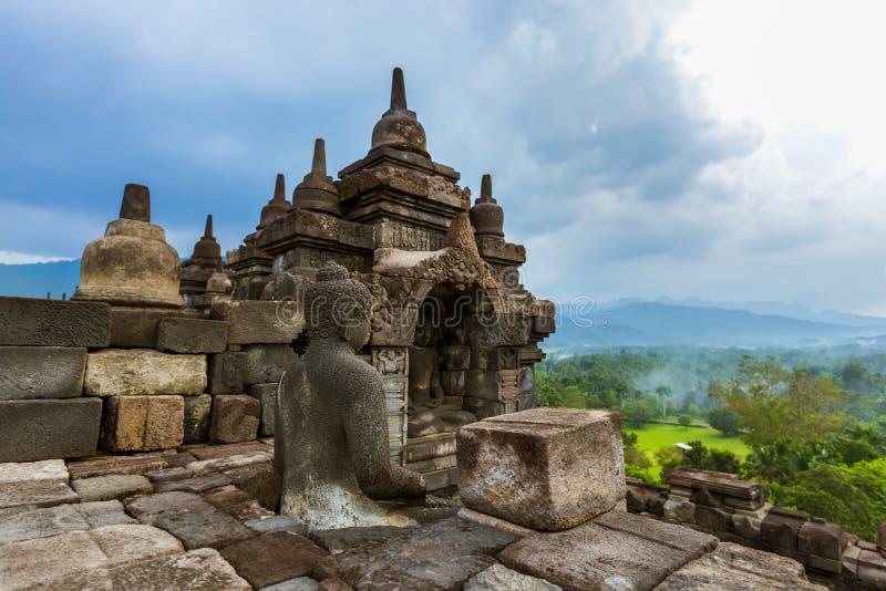 Templo de Borobudur Buddist - ilha Java Indonesia foto de stock royalty free