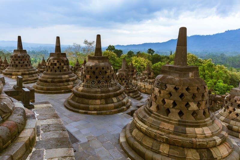 Templo de Borobudur Buddist - isla Java Indonesia foto de archivo