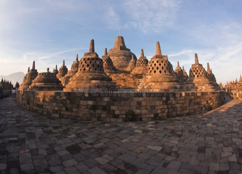 Templo de Borobudur de la configuración fotos de archivo libres de regalías
