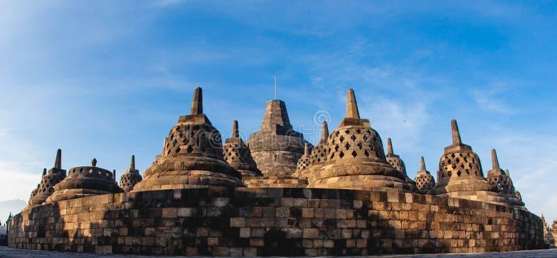 Templo de Borobudur do panorama, Yogyakarta, Java imagem de stock royalty free