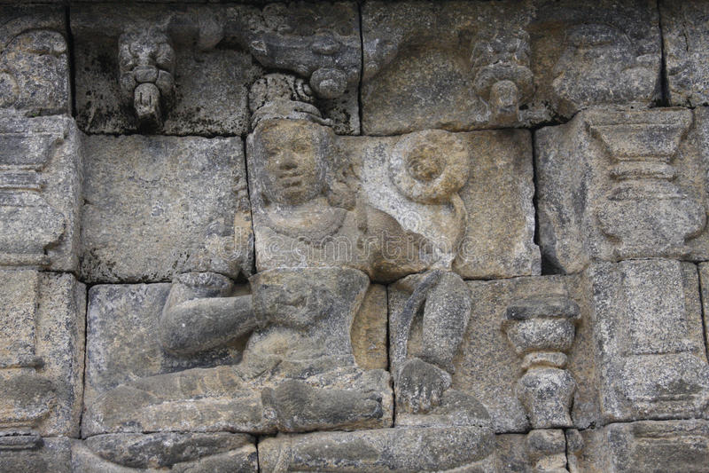 Templo de Borobudur do relevo fotos de stock royalty free