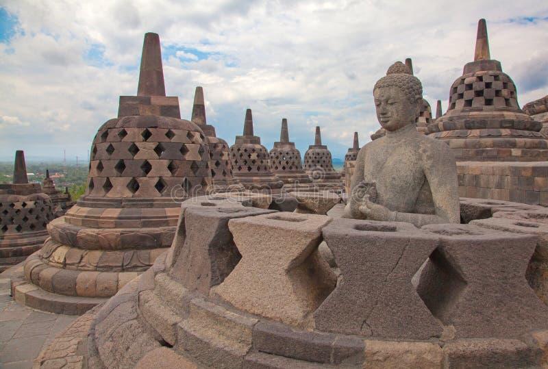 Templo de Borobudur em Indonésia foto de stock