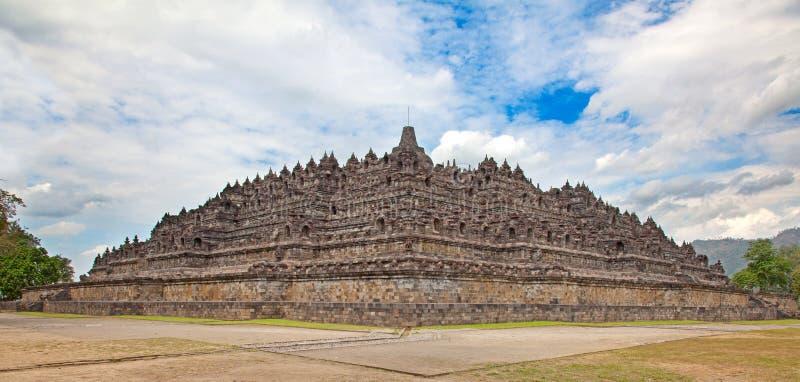 Templo de Borobudur em Indonésia imagens de stock