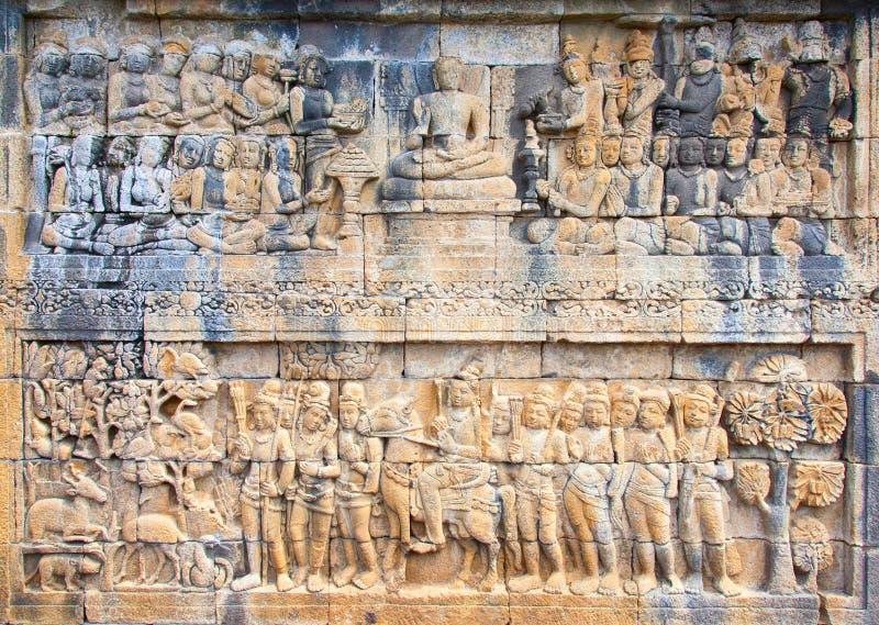Templo de Borobudur em Indonésia foto de stock royalty free