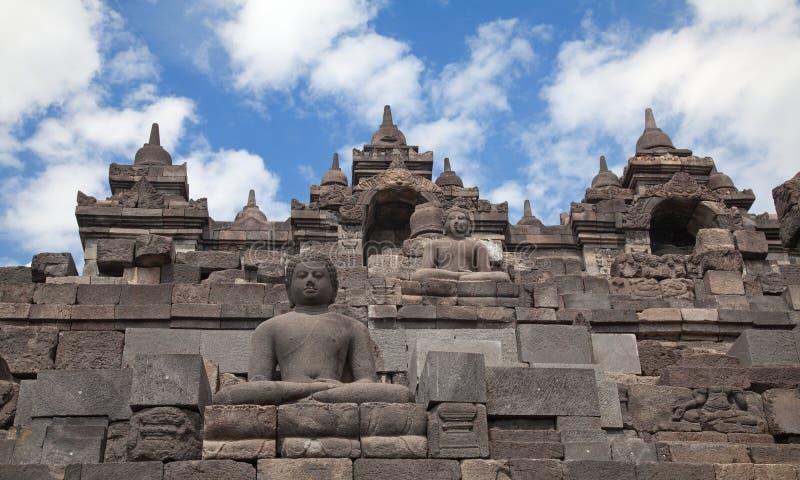 Templo de Borobudur em Indonésia imagens de stock royalty free