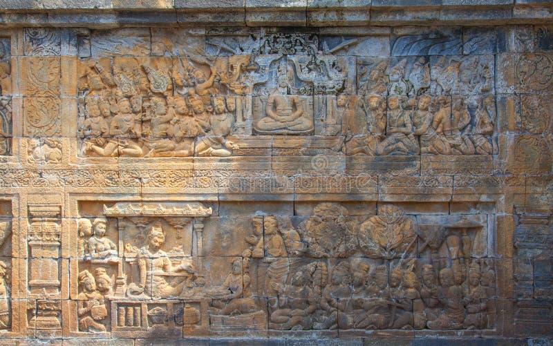 Templo de Borobudur em Indonésia fotos de stock