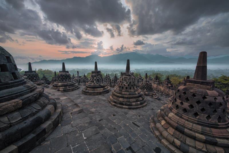 Templo de Borobudur em Java foto de stock royalty free