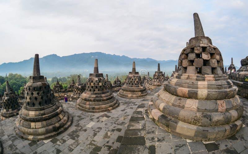 Templo de Borobudur em Java Island, Indonésia imagem de stock
