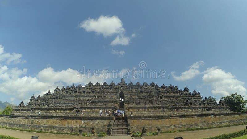 Templo de Borobudur em Magelang, Java central, Indonésia foto de stock